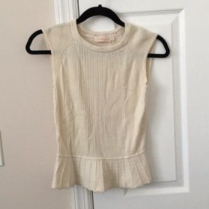 Tory Burch silk and cashmere top